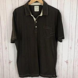 Billy Reid Mens Brown Pensacola Cotton Short